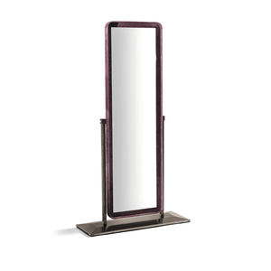free-standing mirror / tilting / contemporary / rectangular