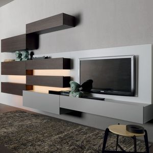 contemporary TV wall unit