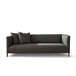 compact sofa / contemporary / leather / fabric