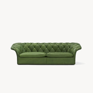 Chesterfield sofa / fabric / leather / by Patricia Urquiola