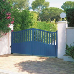 swing gate / aluminum / with bars / home