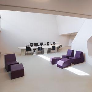 contemporary pouf / foam / rectangular / for public buildings