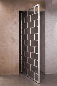 interior door / pivoting / wooden / glazed