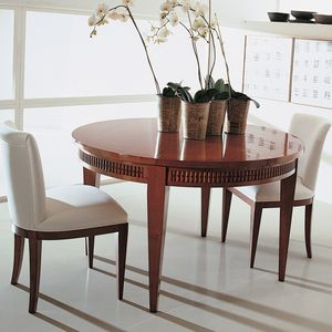 Annibale Colombo Mobili Classici.Traditional Dining Table C1243 Annibale Colombo Walnut Cherrywood Round