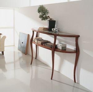 classic sideboard table / wooden / crystal / half moon