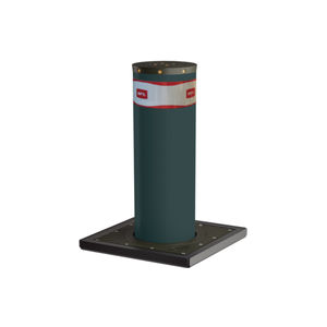 security bollard / stainless steel / painted steel / high
