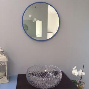 wall-mounted bathroom mirror / contemporary / round