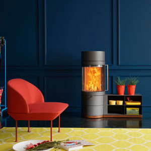 wood heating stove / steel / contemporary / 0 - 5 kW