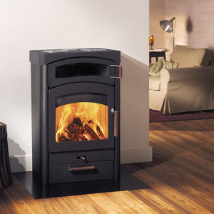 wood heating stove / steel / ceramic / soapstone