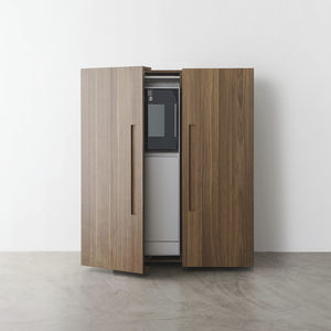 contemporary storage cabinet for kitchen / wooden