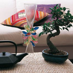contemporary vase / blown glass