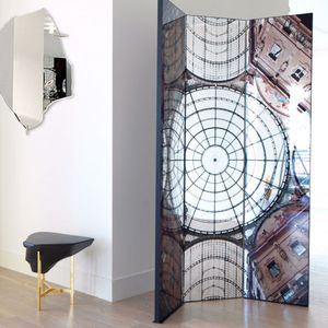 contemporary screen / MDF / with mirror