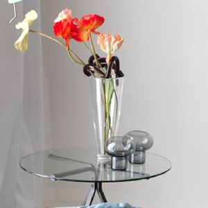 blown glass candle holder / Murano glass
