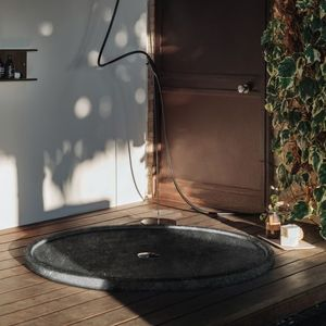 round shower base