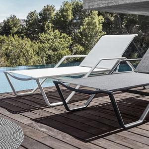 contemporary sun lounger / aluminum / garden / adjustable backrest