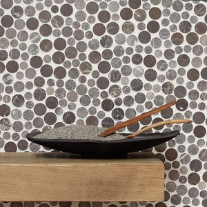 indoor mosaic tiles / wall / stone / 30x30 cm