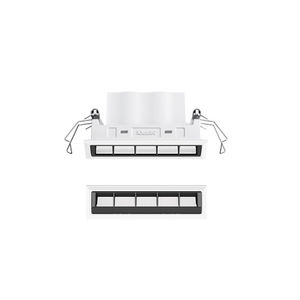recessed ceiling downlight / LED / rectangular / linear