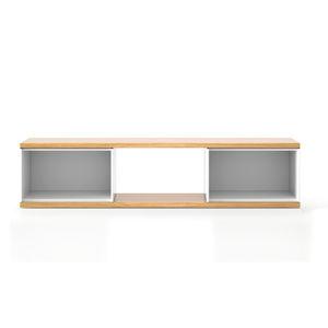 contemporary TV cabinet / oak / MDF