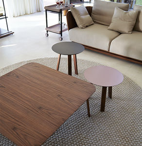 contemporary side table / oak / walnut / MDF