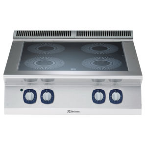 vitroceramic cooktop / commercial / modular / 4 burners