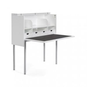 contemporary secretary desk / MDF / plywood / leather