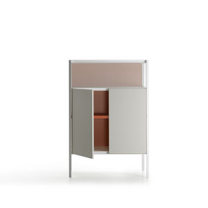 high sideboard / contemporary / glass / aluminum