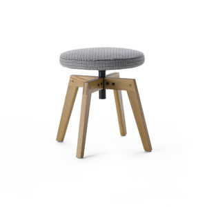 contemporary stool / oak / fabric / contract
