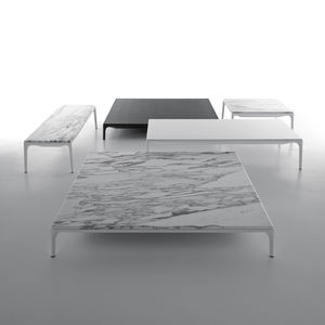 contemporary coffee table / lacquered aluminum / resin / rectangular