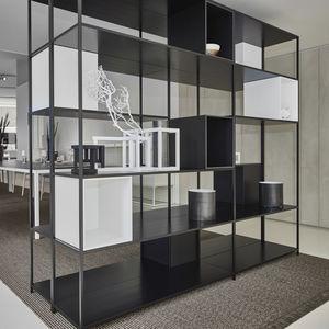 wall-mounted shelf / modular / contemporary / aluminum