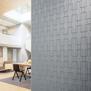 linen wallcovering / polyester / home / textured