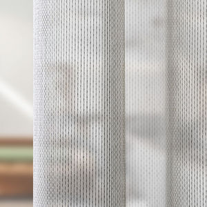 plain sheer curtain fabric / polyester / acoustic