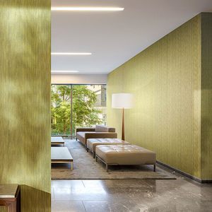 polyester wallcovering / tertiary / smooth / fabric look