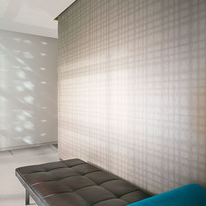 polyester wallcovering / tertiary / textured / fabric look