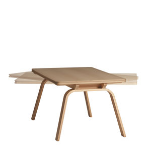 contemporary table / beech / plywood / HPL