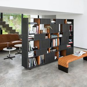 wall bookcase / high / low / contemporary