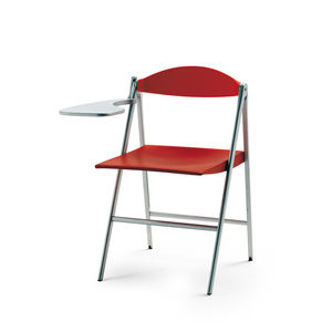 contemporary chair / upholstered / folding / tablet