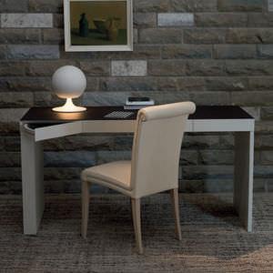 MDF desk / birch / beech / leather