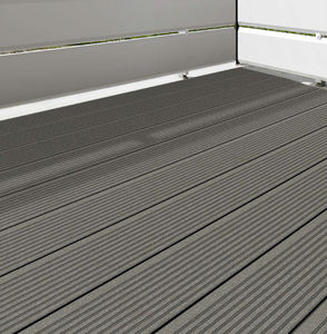 WPC deck boards / grooved / PEFC-certified