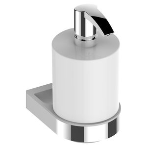 hotel soap dispenser / for hospitals / wall-mounted / chromed metal