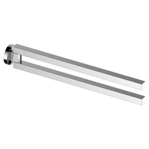 2-bar towel rack / wall-mounted / chromed metal / for hotels