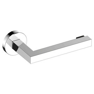 wall-mounted toilet paper dispenser / chromed metal / for hotel / for hospitals