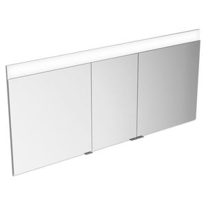 contemporary bathroom cabinet / metal / wall-mounted / with mirror