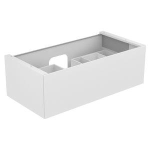 wall-hung washbasin cabinet / wooden / ceramic / contemporary