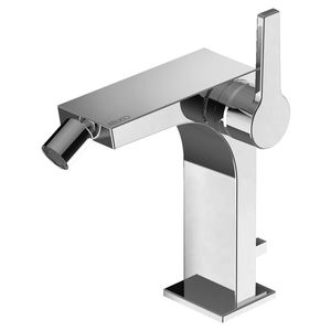 bidet mixer tap / chromed metal / mechanical / bathroom
