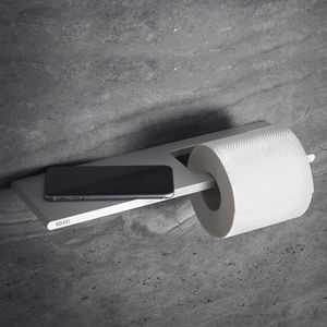 wall-mounted toilet roll holder / aluminum / for hotel / for hospitals