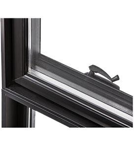 casement window / aluminum / double-glazed / thermal break