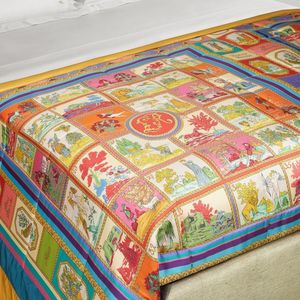 cotton quilt / silk / polyester