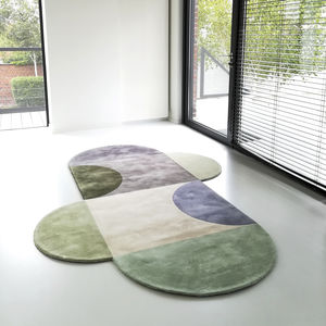 contemporary tapestry / patterned / wool / customizable