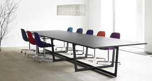 contemporary conference table / linoleum / lacquered aluminum / rectangular