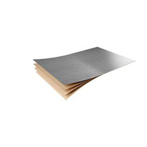 metal look decorative laminate / golden / matte / textured